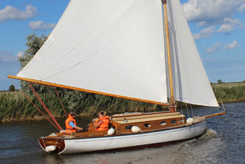 Yacht on the norfolk broads